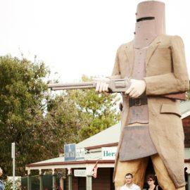 Big Ned Statue at Glenrowan